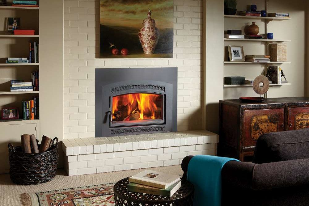 FireplaceX Large Flush Wood HF Arch