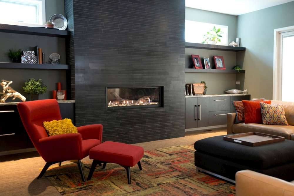 Basalt Ebony - Residential - Chicago - Fireplace
